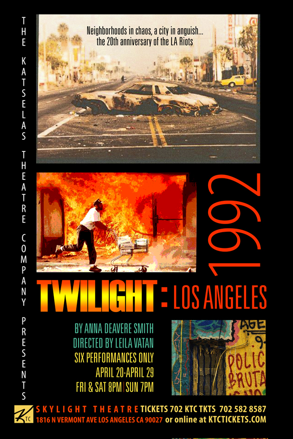Playbill Anna Deavere Smith's Twilight Los Angeles