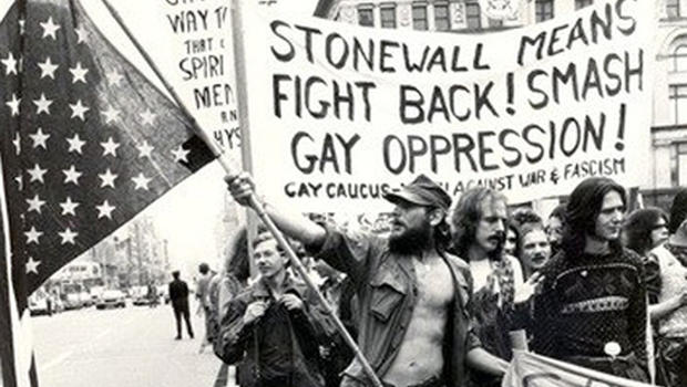 Stone Wall Riots (New York, 1969) / link to LGBT rights 45 years after the Stonewall riots (CBS)