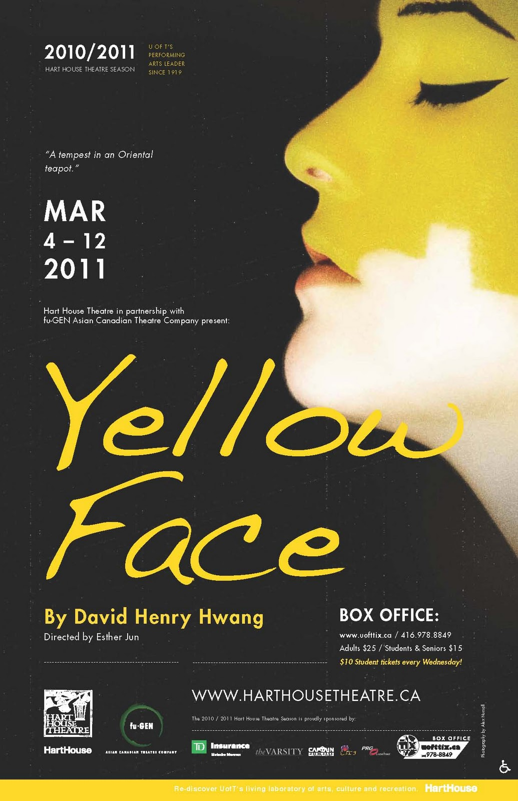 David Henry Hwang, Yellow Face  Playbill