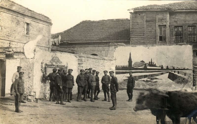 A picture of the Kremlin painted on the wall of the Alekseevskoe Military Academy in the White Army refugee camp in Gallipoli, Turkey.