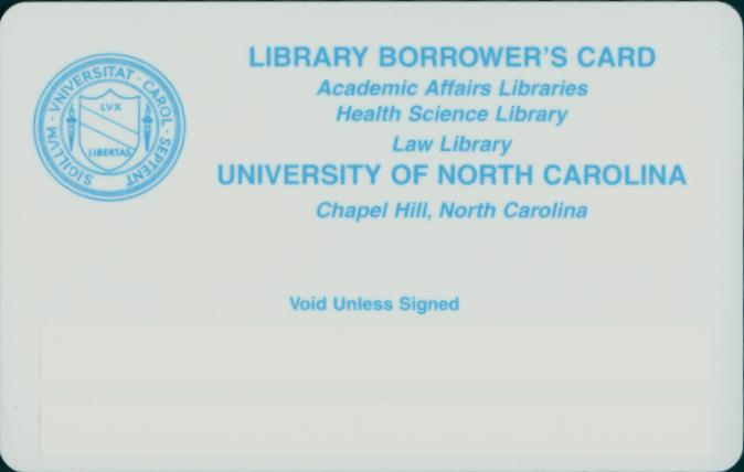 Library Borrower's Card