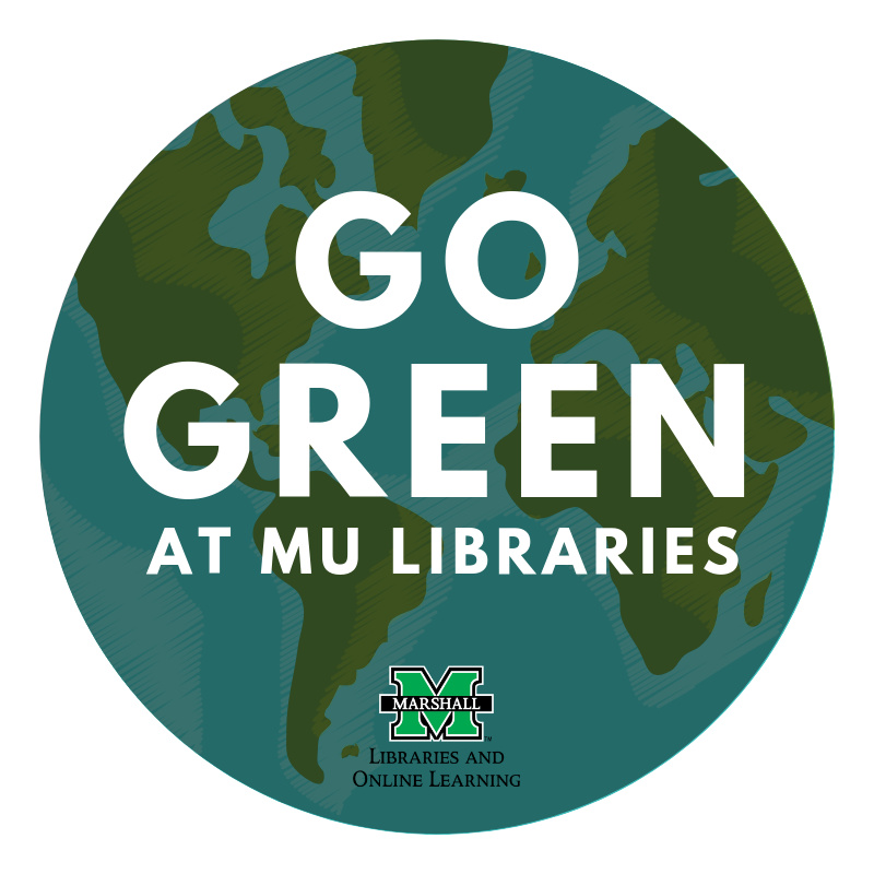 Go green at MU Libraries (logo)