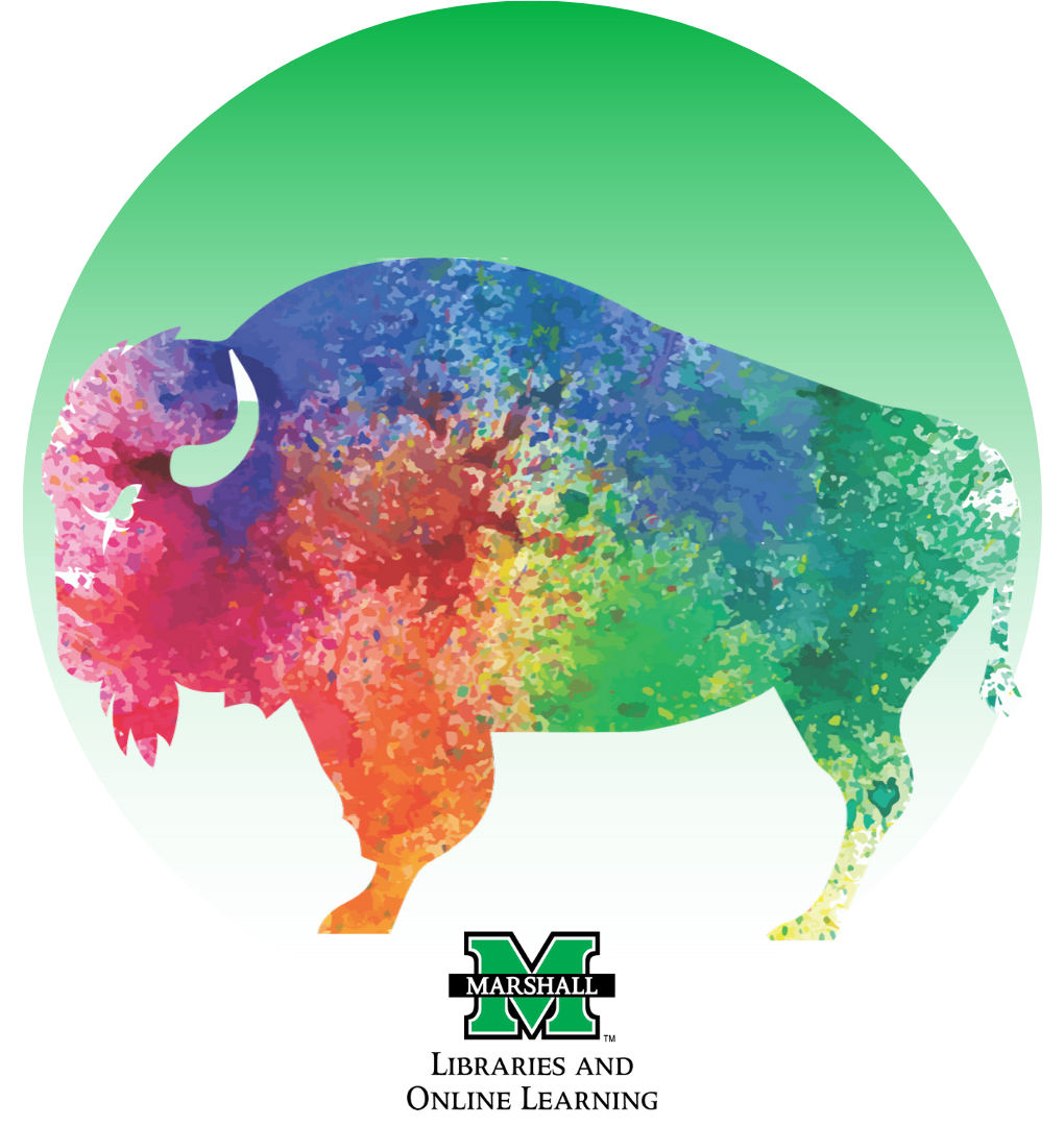 Water color buffalo and MU logo