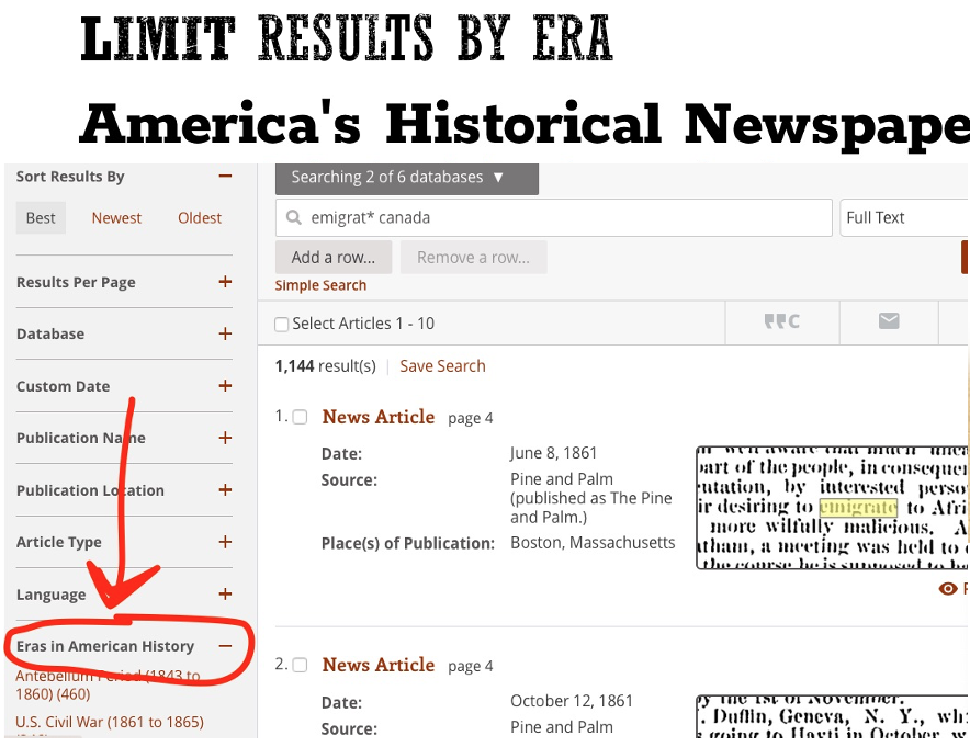 Limit results by Era
