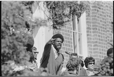 Howard Fully rally, March 1969, Food Service Workers Strike, UNC-Chapel Hill