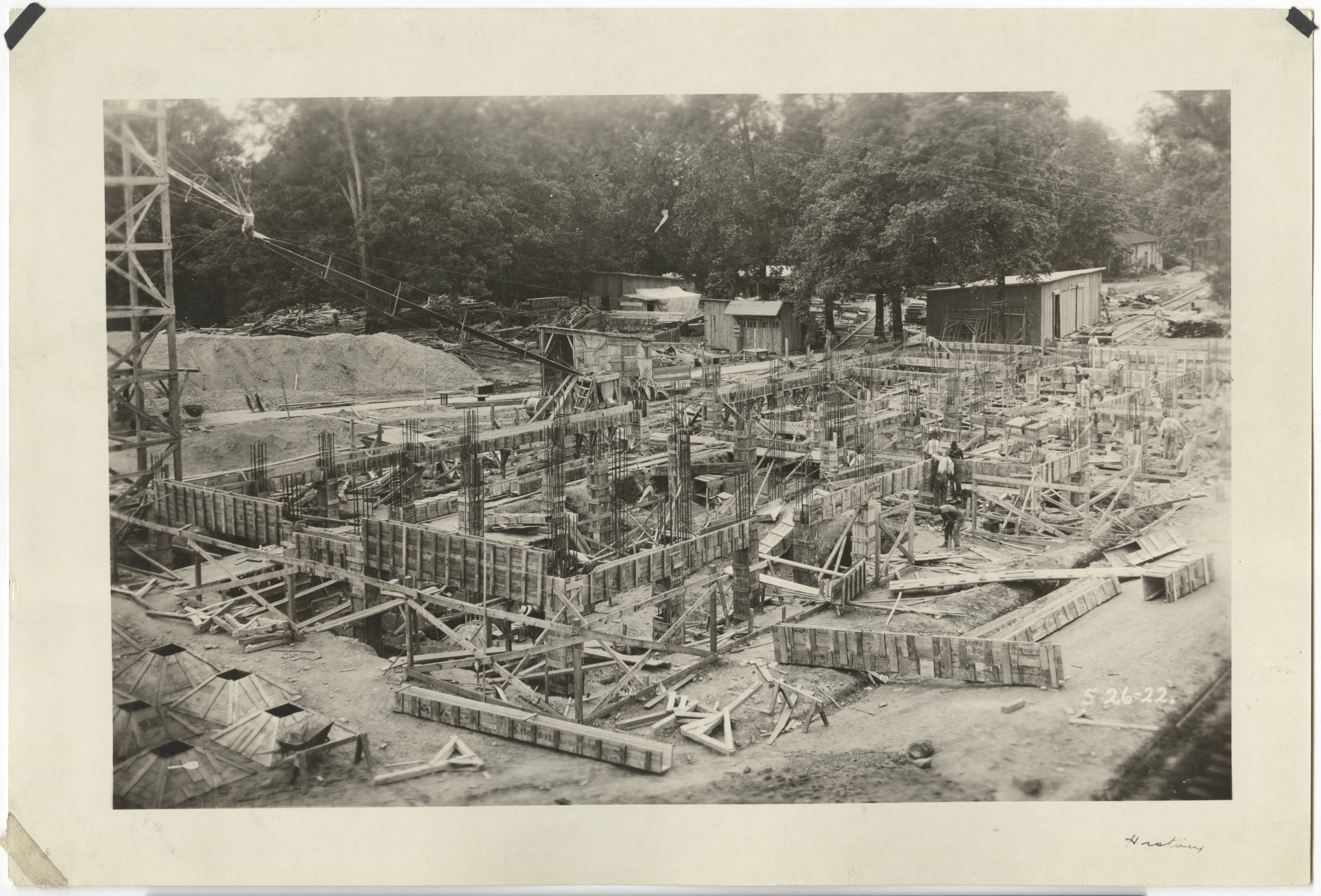 Saunders Hall under construction, 1922