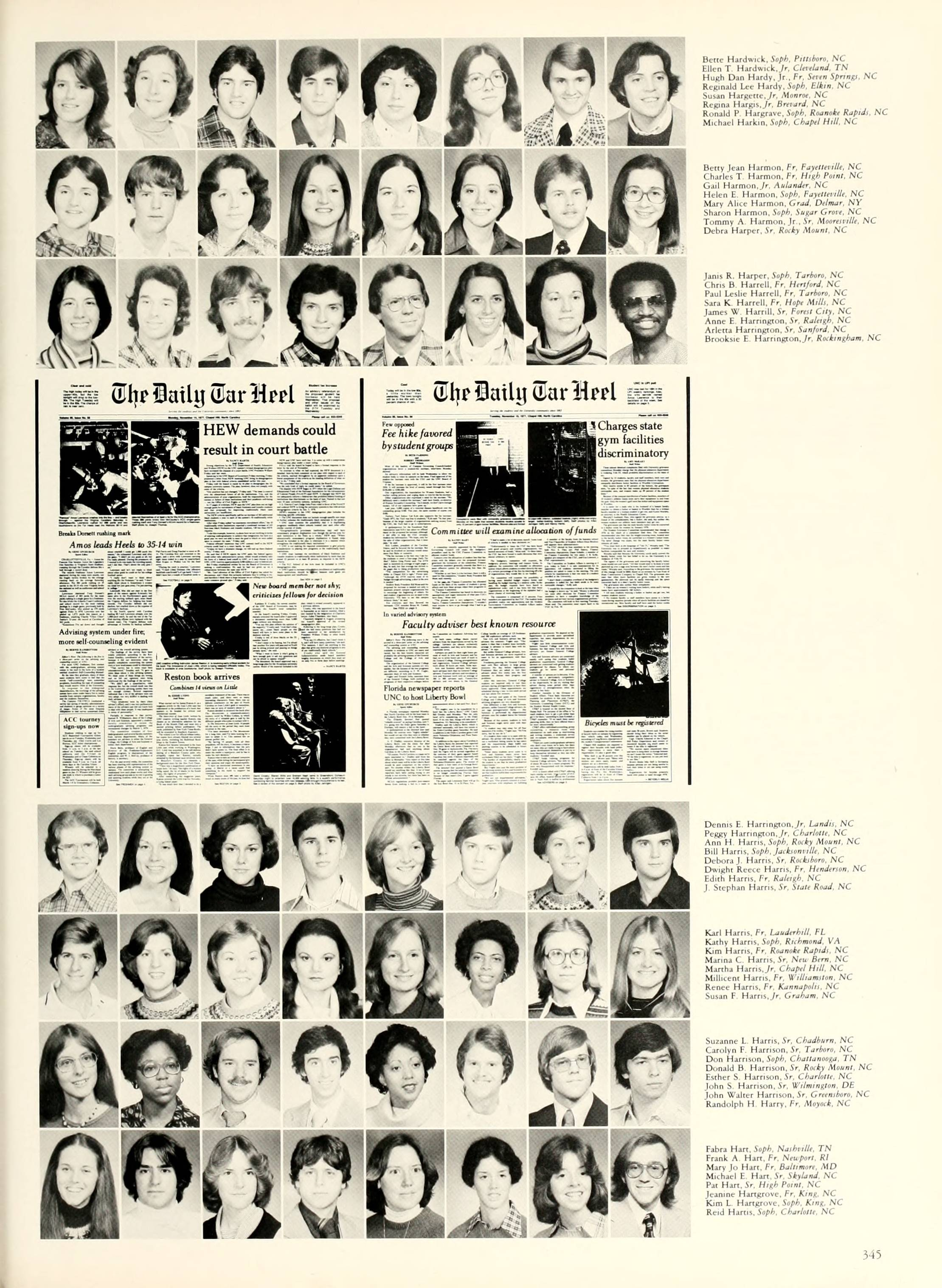 Yackety Yack yearbook page 1978