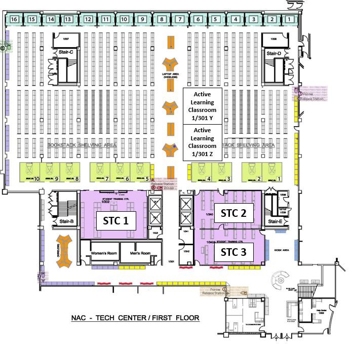 map of tech center