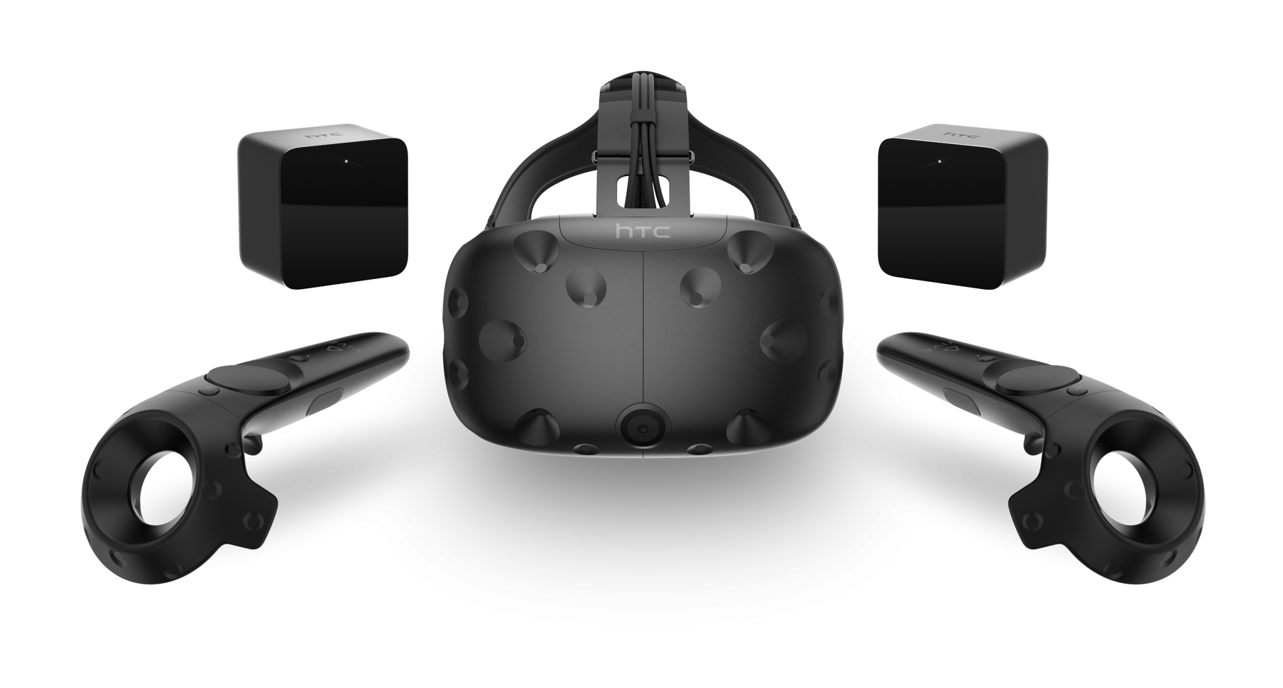 HTC Vive headset with controllers