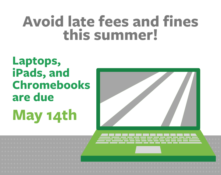 Library Materials are Due May 14th