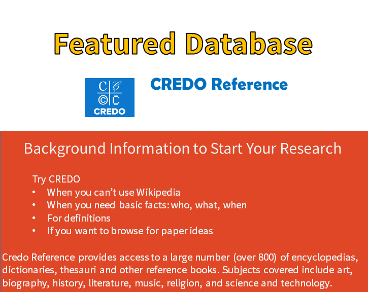 Featured Database: CREDO Reference