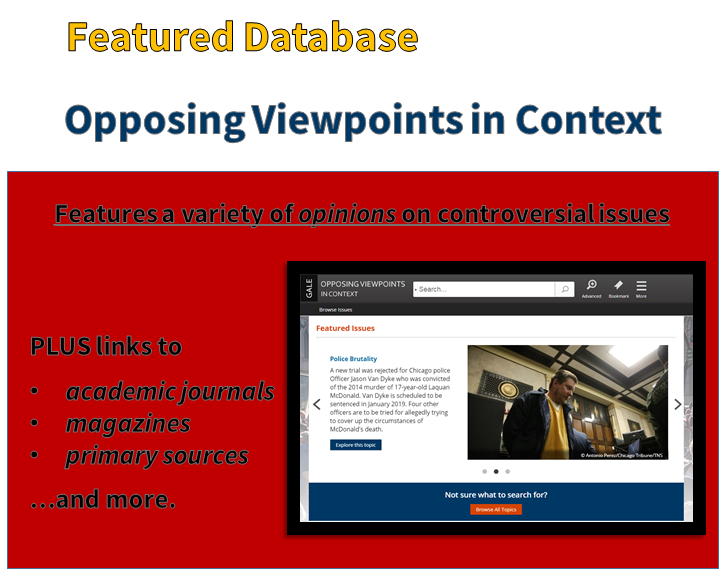 Featured Database: Opposing viewpoints in context
