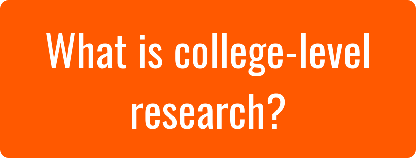 What is college-level research? image and hyperlink