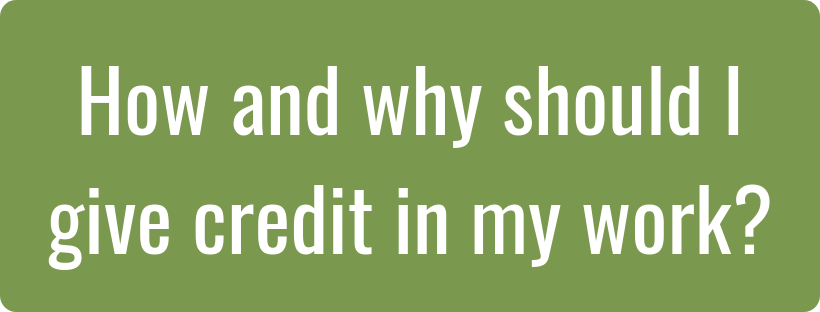 How and why should I give credit in my assignments image and hyperlink
