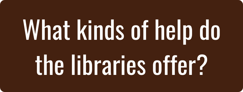 What kinds of help do the libraries offer image and hyperlink