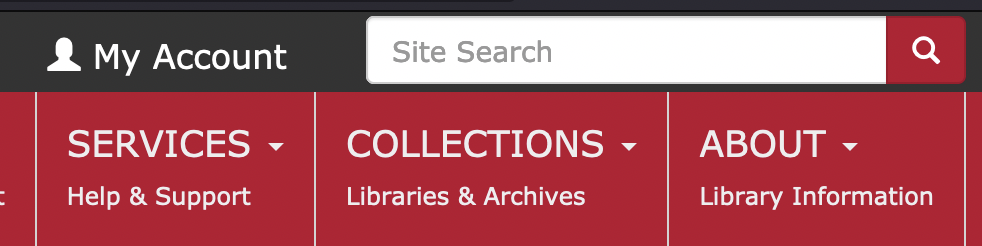 Image snippet - My Account on UGA Libraries website