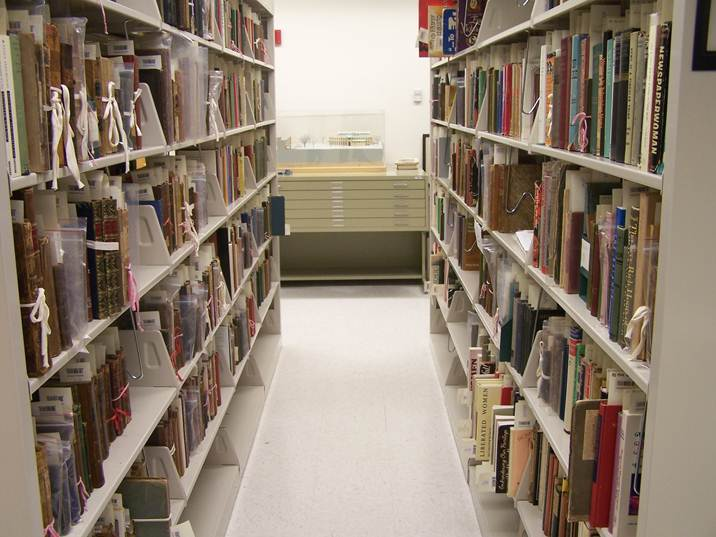 Interior of Archives and Special Collections