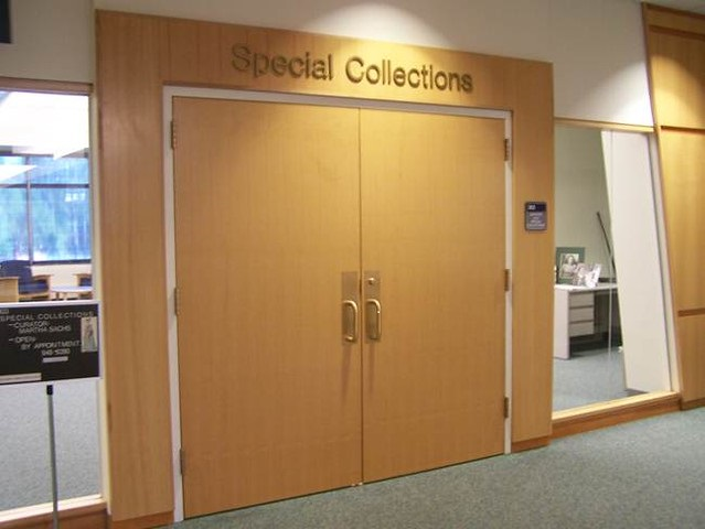 Archives and Special Collections Main Entrance