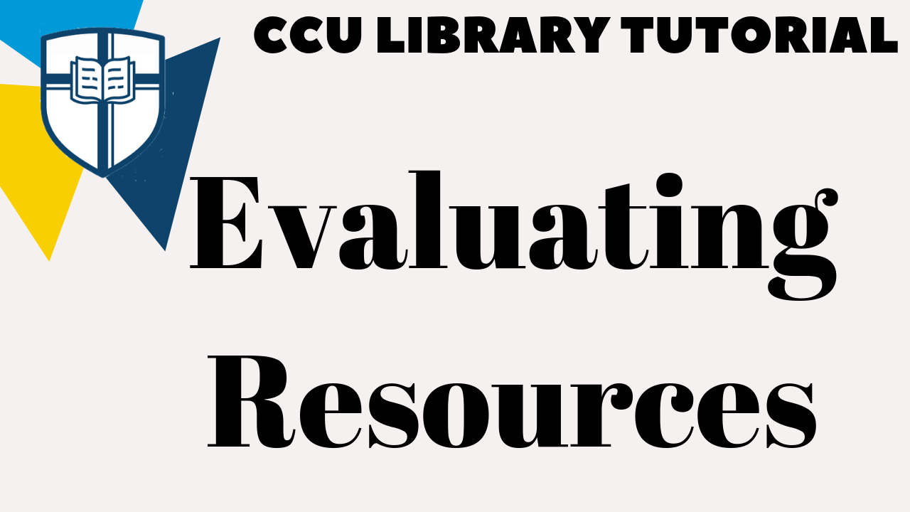 Evaluating Resources Tutorial