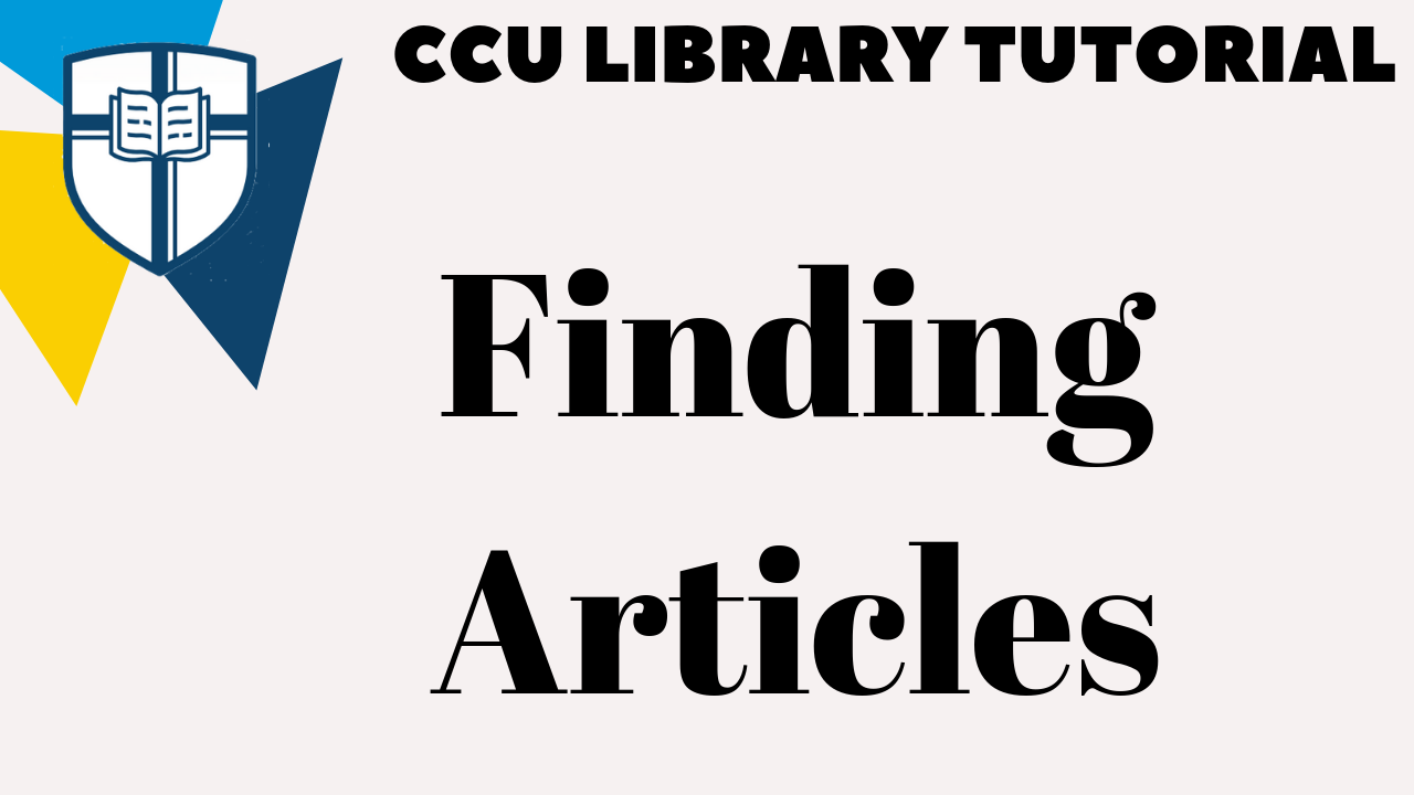 Finding Articles Tutorial
