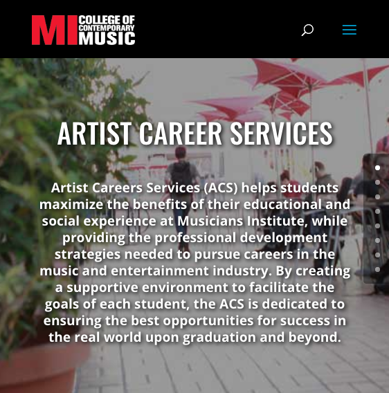 Artist & Career Services