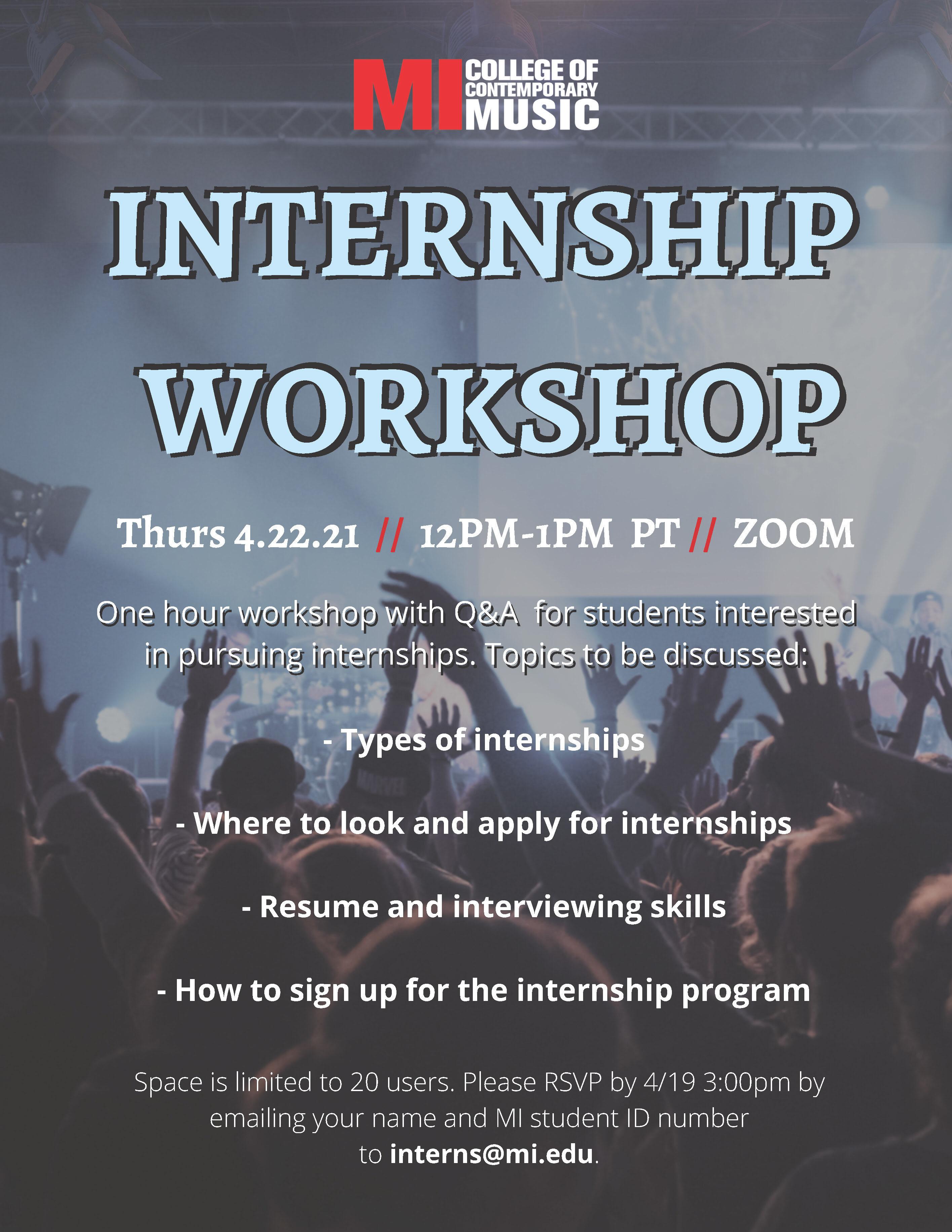 Internship Workshop Spring 2021
