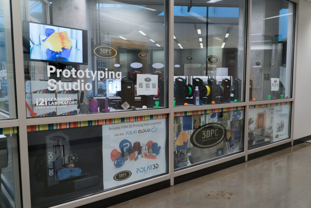 Photo outside of the Purdue 3D Printing Club lab