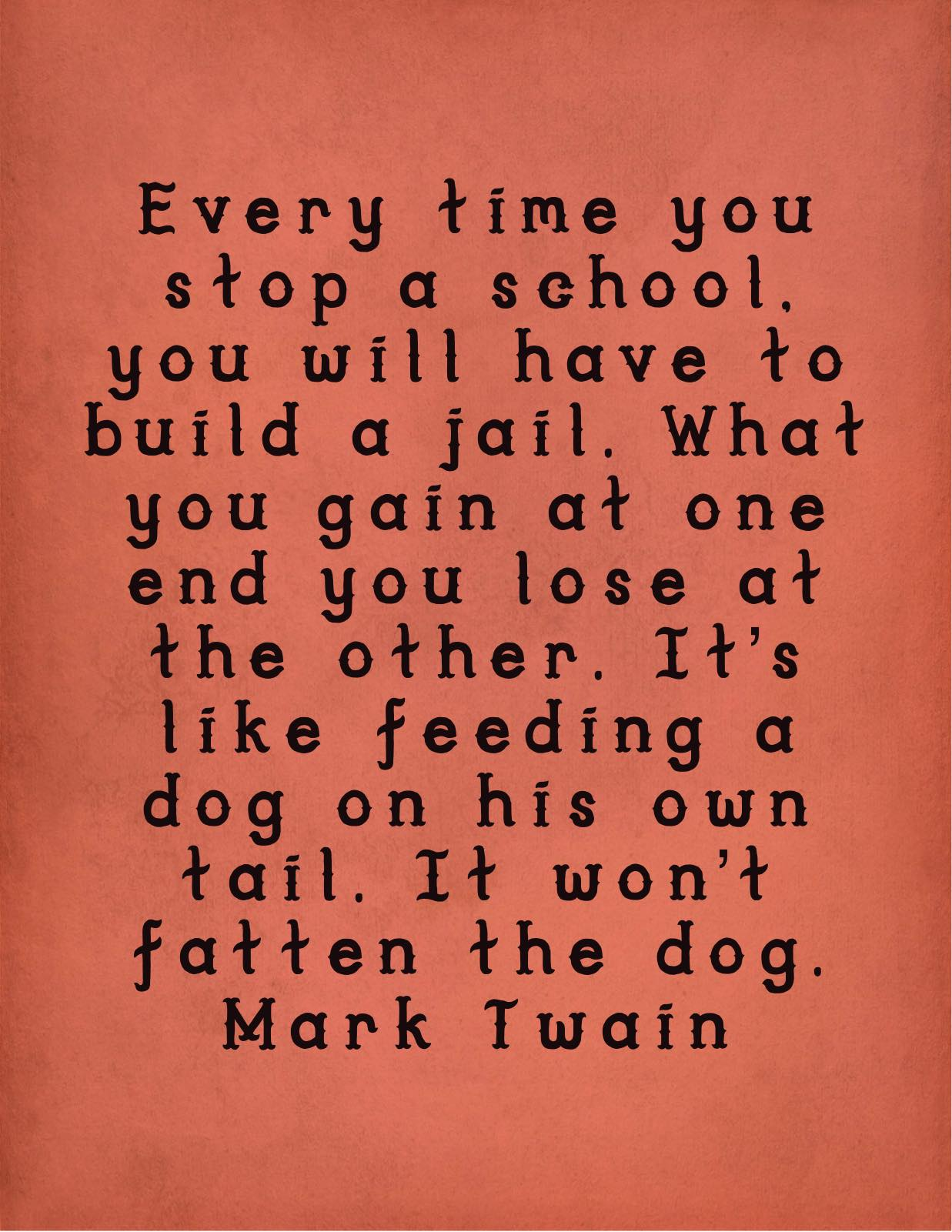 Mark Twain quote education