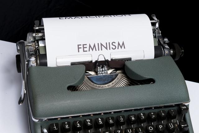 Feminism typewriter
