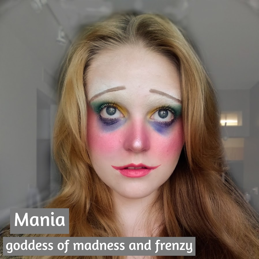 person with makeup representative of Mania