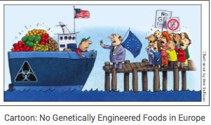 Cartoon: No Genetically Engineered Foods in Europe