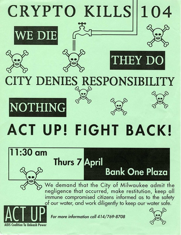 ACT UP flyer from the UWM Archives