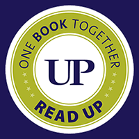 One Book Together Read UP Green & Purple Logo