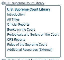 Screenshot of the HeinOnline U.S. Supreme Court Library