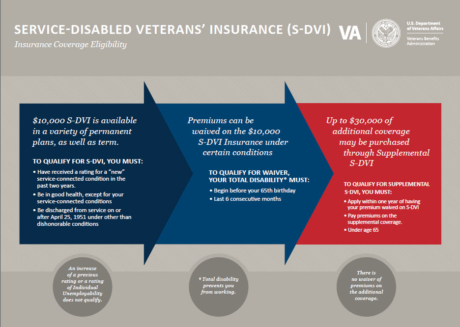 Infograph about S-DVI insurance from the VA