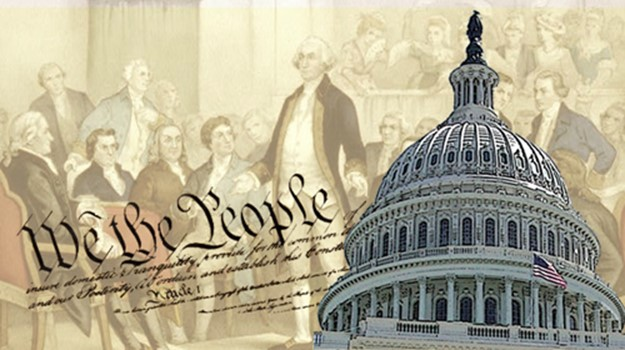 A graphic showing the preamble of the constitution