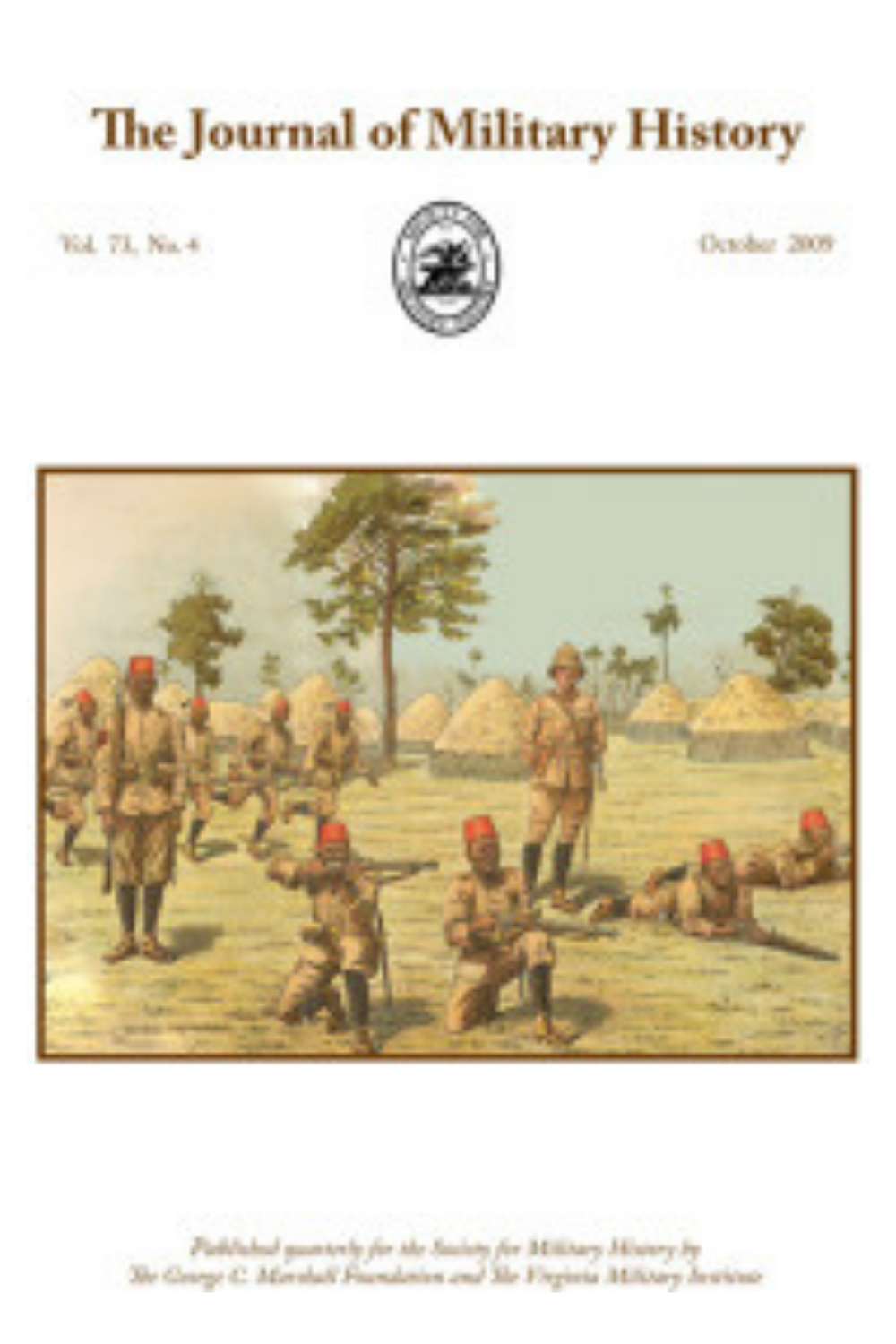 Journal of Military History Cover