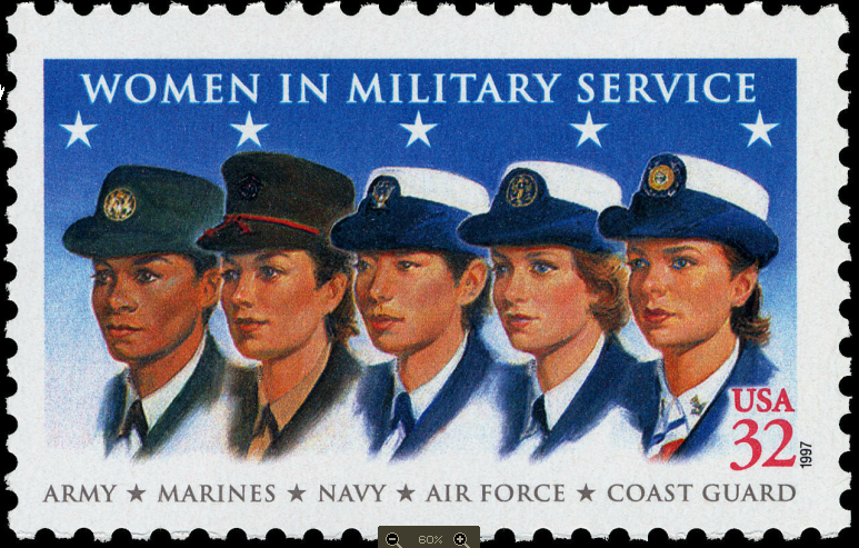 a photo of a stamp commemorating female veterans