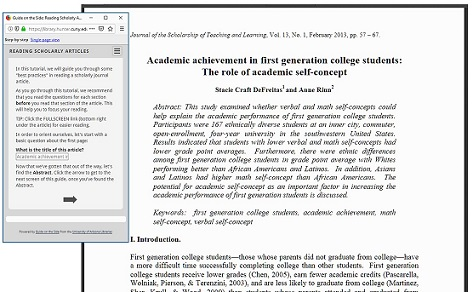 University of Indiana tutorial on reading scholarly articles
