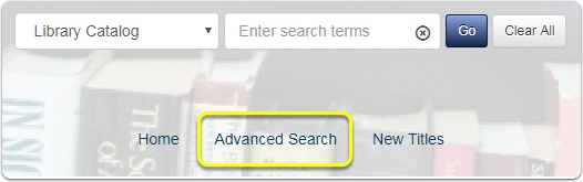 Image of Koha Advanced Search Button