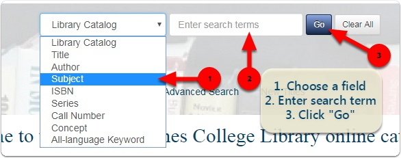 Image of Koha search box