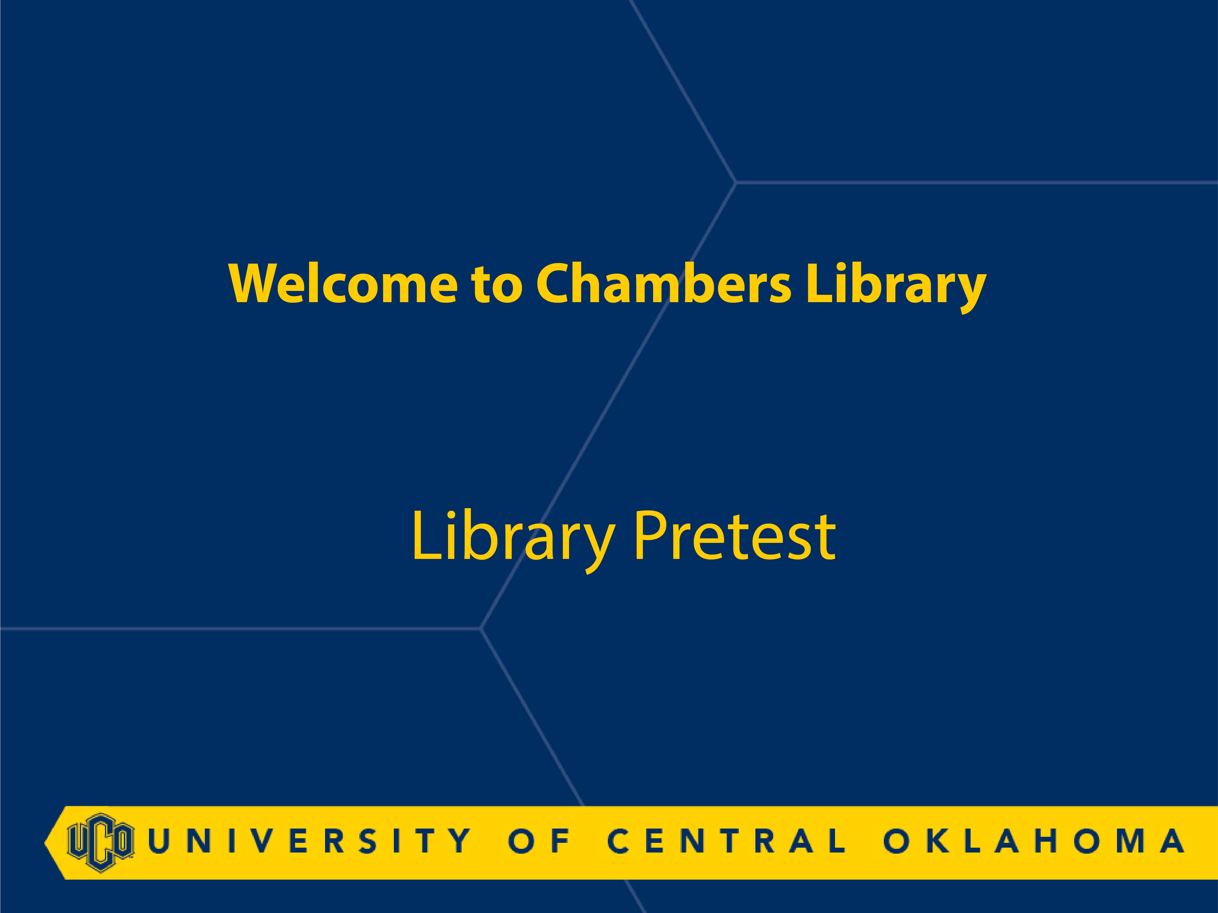 Library Pretest