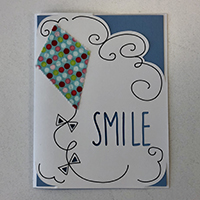 Layered smile card