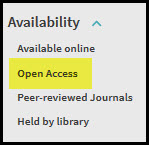 limit by open access