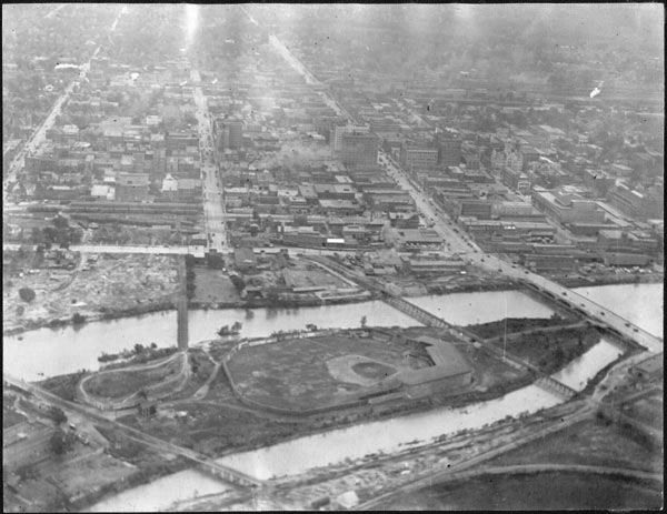 Aerial view of downtown Wichita, 1917