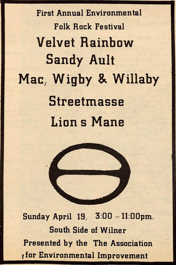 First Annual Environmental Folk Rock Festival 1970