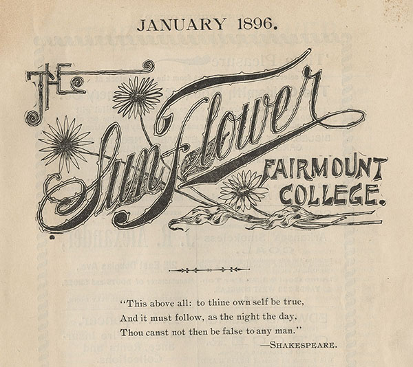 First issue of The Sunflower from 1896