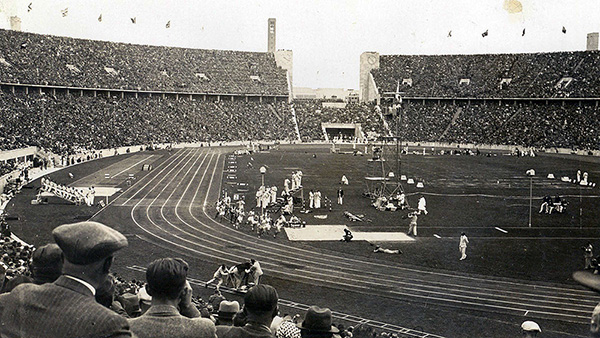 Wenzel's photo from her seat at the Olympics