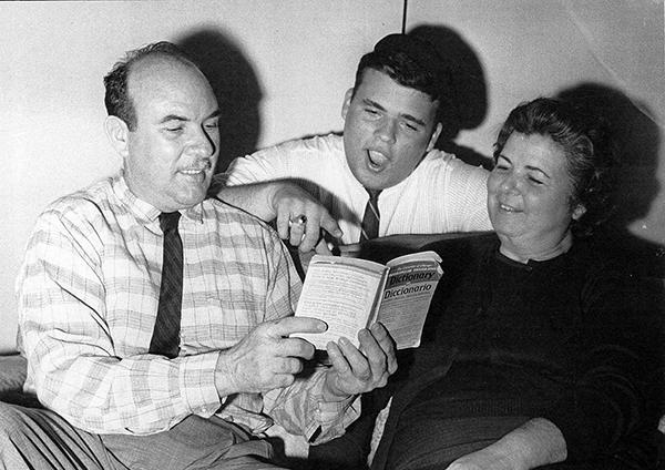 Lazaro San Martin and parents