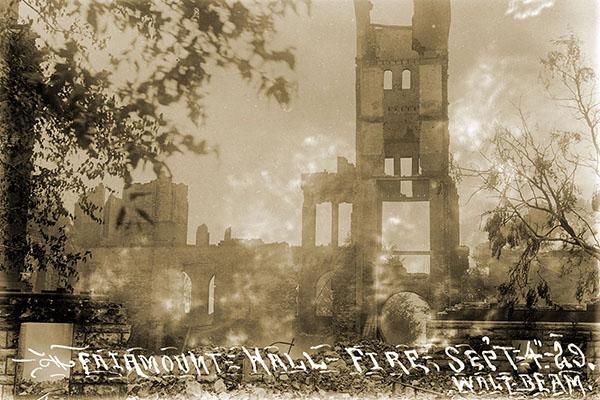 Fairmount Hall fire, 92 years ago
